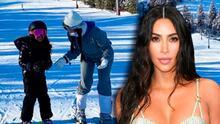 Kim Kardashian inició el año en Wyoming, donde su marido compró dos ranchos