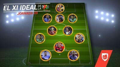 León, Xolos, Cruz Azul, Lobos son la base del XI ideal de la Jornada 9