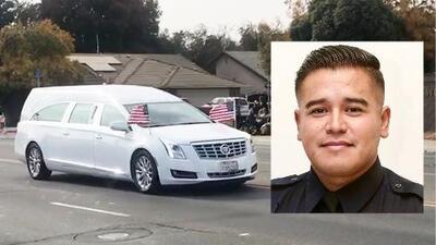 Despiden con honores a policía de Lemoore que murió asesinado tras intervenir en pelea de violencia doméstica