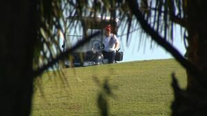 """""""Te amamos"""": el grito que también escuchó Trump camino a casa en Florida"""