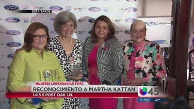 Merecido galardón a Martha Kattan, directora de noticias 45 Univisión