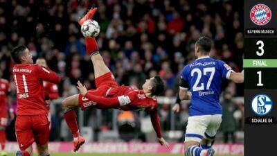El Bayern le gana en casa al Schalke y se pone a cinco puntos del Dortmund