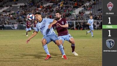 Increíble 'osote' aprovechado por Diego Rubio y golazo de Russell dividen puntos entre Colorado y KC