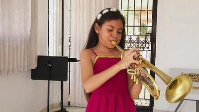 Video of 11-year-old girl playing trumpet goes viral