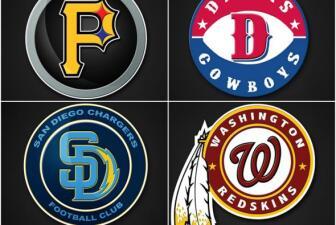 Fusión de los logo de la NFL y MLB