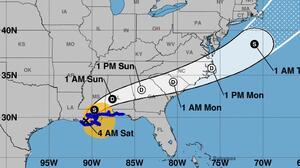 Se forma la tormenta tropical Claudette, tras haber tocado tierra en Louisiana