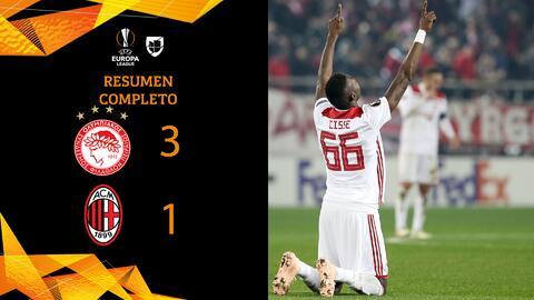 Olympiacos 3-1 Milan - GOLES Y RESUMEN - Grupo F - UEFA Europa League