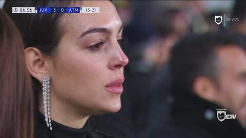 Las lágrimas de Georgina Rodríguez, luego del gol 3-0 de CR7 con la Juventus