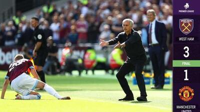 Chicharito sigue sin aparecer, pero el West Ham vence al United y peligra Mourinho