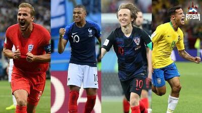 Los cuatro mejores jugadores del Mundial Rusia 2018 previo a los cuartos de final