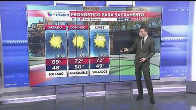 Sacramento tendrá un fin de semana soleado