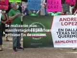 Tercera manifestación pacífica en Dallas en contra del presidente Andrés Manuel López Obrador