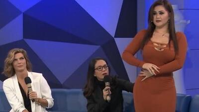 Yolanda Andrade constata la firmeza del trasero de 'Gomita' tocándoselo en pleno show de TV