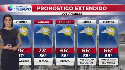 Cielos parcialmente nublados para este viernes en el sur de California