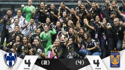 ¡Dramatismo puro! Tigres se corona en penales en la Liga MX femenil