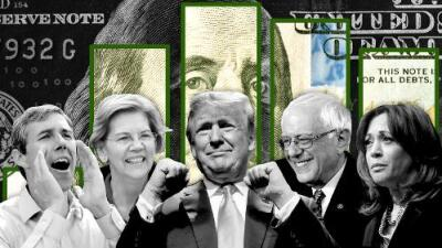 Trump, Sanders, O'Rourke: quién va ganando la carrera del dinero para la campaña 2020