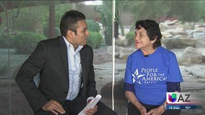 """""""Hay trabajo por hacer"""", el mensaje de Dolores Huerta para la reconciliación de los demócratas"""