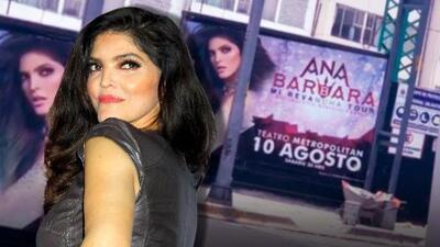 Por tomar un video de sí misma, a Ana Bárbara le cayó la patrulla