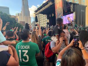 En fotos: Fan fest en Dallas le da la bienvenida al Tri