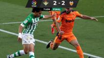 Lainez y Betis desperdician ventajas ante el Valencia