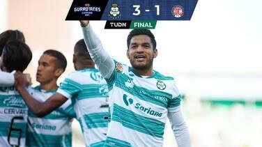Santos vence a Toluca y aprieta la lucha por la clasificación directa