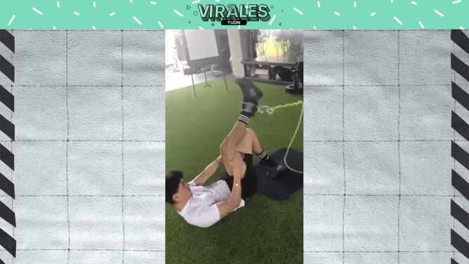 Erick Gutiérrez muestra cómo trabaja en su recuperación