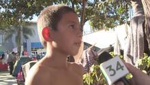 Jefferson, el niño de la caravana de migrantes que sueña con ser médico en EEUU