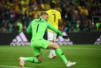 En fotos: Jordan Pickford, la gran figura del Inglaterra vs Colombia