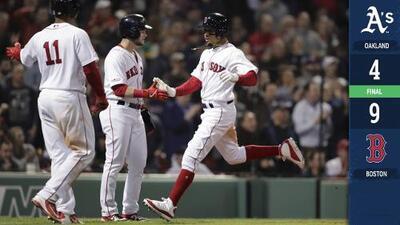 Los Red Sox se levantan para vencer a los Athletics
