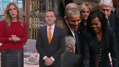 Lili Estefan y Carlos Calderón no pasaron por alto el dulce gesto que tuvo George W. Bush con Michelle Obama