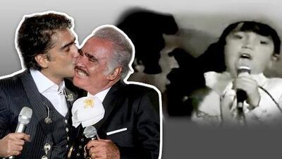 """""""Arriba del escenario no somos padre e hijo"""": así retaba Vicente Fernández a 'El Potrillo' en sus inicios"""