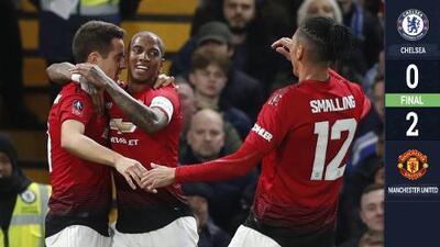 Manchester United avanza a Cuartos de Final de la FA Cup a costa de un maltrecho Chelsea
