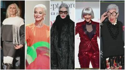 El top cinco de las mujeres modelos mayores de 60 años: son íconos y siguen desfilando en pasarelas