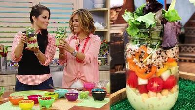 Almuerzo saludable para llevar: deliciosas y nutritivas ensaladas que caben en un frasco