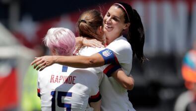 En fotos: el Team USA femenino mostró su poder contra México en amistoso previo al Mundial