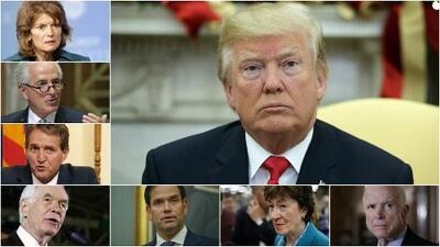 Los senadores republicanos que pueden frenar la reforma fiscal de Trump