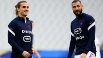 ¡Alarmas en Francia! Griezmann y Benzema no entrenan