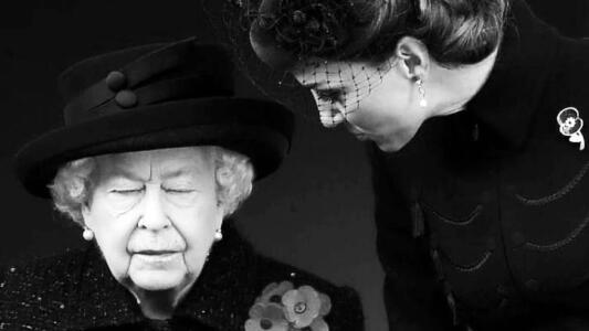 Kate Middleton consuela a la reina Isabel II en su luto: ¿qué se esconde detrás de la imagen?