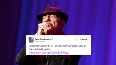 Brian Eno, Saúl Hernández y otros artistas lamentan la muerte de Leonard Cohen
