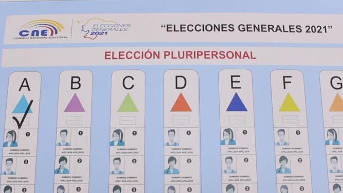 Esta es la manera correcta en la que se puede votar en las elecciones presidenciales de Ecuador