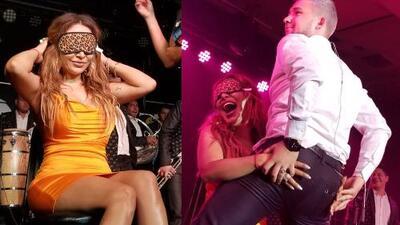 La Original Banda El Limón le regaló un striptease a La Bronca por su cumpleaños