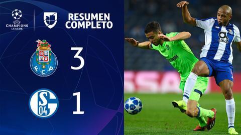 Porto 3-1 Schalke 04 - GOLES Y RESUMEN - Grupo D - UEFA Champions League
