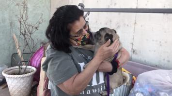 Mujer se reencuentra con su mascota que se perdió hace seis años
