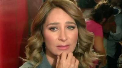 Desesperada, Geraldine Bazán intenta evadir las preguntas sobre Gabriel Soto ante el llanto de su pequeña hija