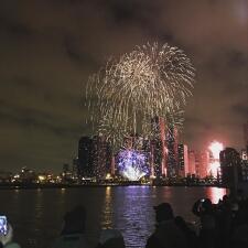 Imágenes del fin de año en Chicago