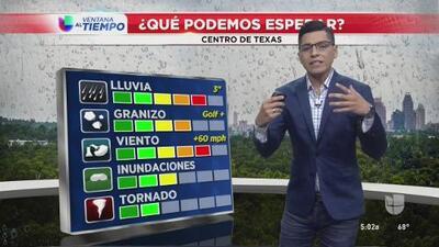 Se mantiene vigente la alerta en el tiempo para el centro de Texas