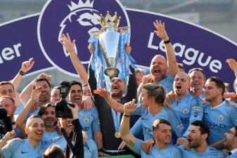 En fotos: Manchester City es campeón de la Premier League tras vencer al Brighton
