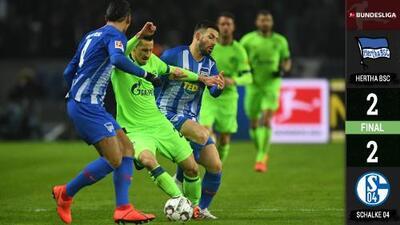 ¡Hubo golazos! El Hertha no logra meterse a puestos europeos tras empatar ante el Schalke