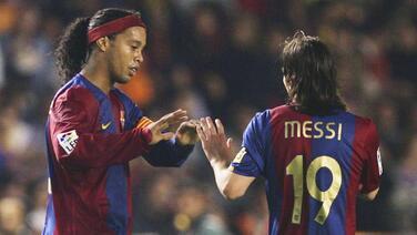 """Ronaldinho sobre Messi: """"Es lindo ser parte de su historia"""""""