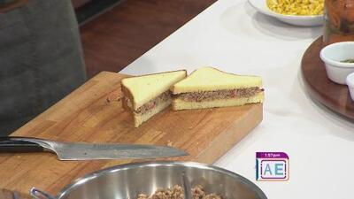 La receta: emparedado con dip de sardinas y aceitunas